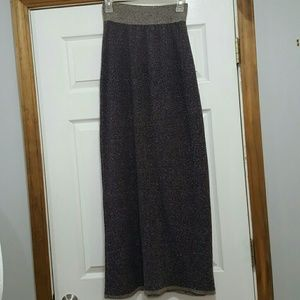 Anthropologie Moth Knit Maxi Pencil Long Skirt XS